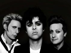 Tre Cool, Mike Dirnt, Billie Joe Armstrong, Green Day by Aelis