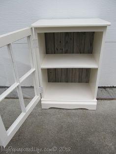 Image from http://www.myrepurposedlife.com/wp-content/uploads/2013/11/repurposed-window-cabinet-21.jpg.