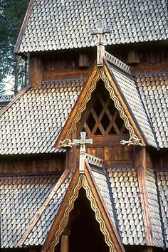 Gol stave church, originally from Gol, Hallingdal, Norway, now in the Norwegian Museum of Cultural History, Oslo.