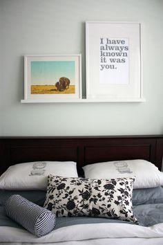 sweet bedroom words - love the shelf