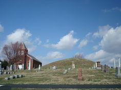 Large burial mounds at Jacksontown, near Newark, Ohio