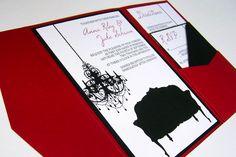 DIY Wedding Decorations   Budget-wedding-ideas-diy-invitations-etsy-weddings-red-black-white ...
