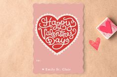 Handmade Heart Classroom Valentine's Day Cards by Laura Hankins at minted.com