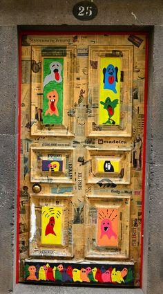 Artwork on door in the old part of town Funchal Madeira & OldTown #Funchal #Madeira https://uk.pinterest.com/annbri/ | DOOR ... pezcame.com