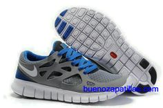 newest 8c586 6ccce Buy 2013 New Mens Nike Free Run 2 Cool Grey White Black Varsity Royal Shoes  Sports Shoes Store