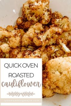These are the best and easy oven-roasted cauliflower recipe out there! The olive oil helps the cauliflower crisp up and the cumin elevates its flavour! It is the perfect dinner recipe for vegan and vegetarian guests as well as the perfect side for all meals. The seasoning mix for this roasted cauliflower recipe is super easy and anyone can do it! Read the full recipe on Easy Roasted Cauliflower on the blog now! #roastedcauliflower #cauliflower #vegetarianmeal #veganmeal Oven Roasted Cauliflower, Cauliflower Recipes, Quick Vegetarian Meals, Grilled Meat, Vegan Recipes, Dinner Recipes, Favorite Recipes, Dishes, Cooking