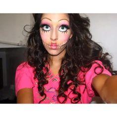 Halloween Makeup Creepy Dolls