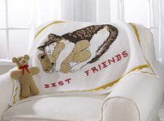 Best Friends Afghan and Bear Crochet Pattern