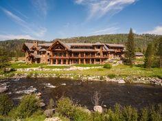 Eagles Landing on the Elk River, Steamboat Springs, CO Big White Ski Resort, Log Cabin Homes, Log Cabins, Mountain Cabins, Kings Mountain, Elk River, Small Porches, Mansions For Sale, A 17