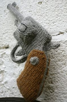 Knitted Revolver PDF Pattern - Knitting pattern for a gun