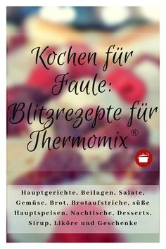 Quick recipes Schnelle Rezepte Thermomix Cooking for – – only 10 minutes working time – - Quick Recipes, Quick Meals, Brunch Recipes, Beef Recipes, Baking Recipes, Dessert Recipes, Desserts, Clean Baking Pans, Ideas