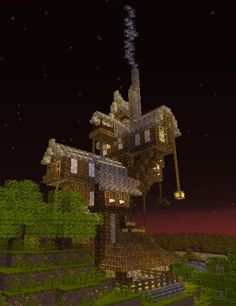 The Burrow from Harry Potter Minecraft Project