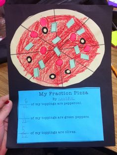 Great fraction pizza activity/craft for third-grade or fourth-grade!