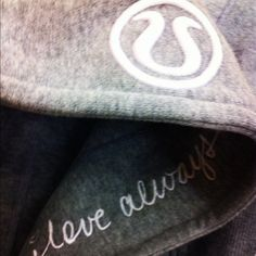 """SPECIAL EDITION Lululemon """"love always"""" scuba II Scuba Hoodie II - Limited Edition """"Love Always"""" Heathered   -excellent overall pre-owned condition -long sleeve -full front zip -thumb holes -hood with inside script """"love always"""" -ribbed cuffs, waistband, and side panels lululemon athletica Tops"""