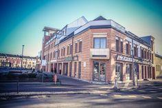 Nagykálló Főtér : Zombor csoport Multi Story Building, Street View