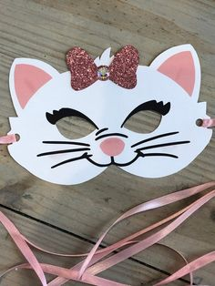 Colourful owl mask craft project for the kids (including free printable templates - love love LOVE the bright colou… in 2020 Marie Aristocats, Aristocats Party, Marie Cat, Mask Design, Design Art, Design Ideas, Cat Mask, Cat Party, Ribbon Colors