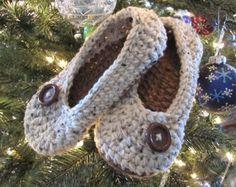Pisos de mujer zapatillas de ganchillo por daiseychain en Etsy