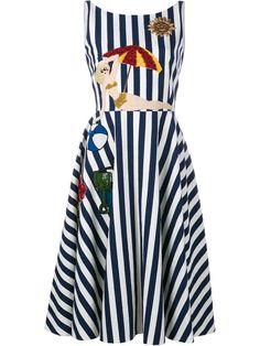Dolce & Gabbana полосатое платье с аппликацией