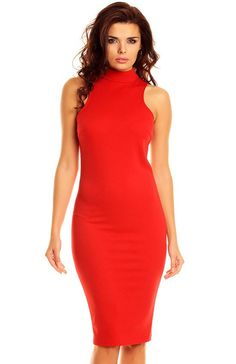 Nommo NA48 sukienka czerwona Niezwykle eleagancka a zarazem seksowna sukienka