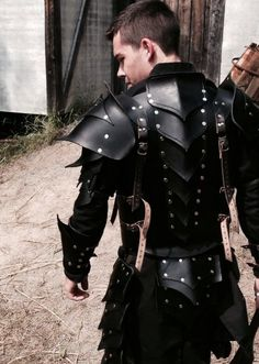 Armor black steel custom made [ Swordnarmory.com ] #LARP #medieval #swords                                                                                                                                                      More