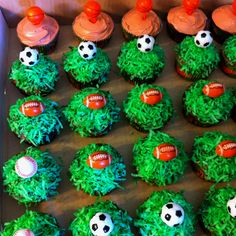 Just some of the cupcakes for my sons party!