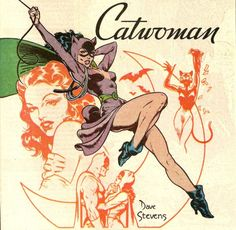 Catwoman and Batman by Dave Stevens Batgirl, Batman Und Catwoman, Joker, Original Catwoman, Comic Book Characters, Comic Character, Comic Books Art, Comic Art, Catwoman Character