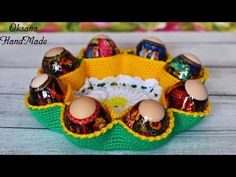 Basket for Easter eggs and Easter. Crochet Egg Cozy, Easter Crochet, Birthday Party At Home, Ball Birthday Parties, Knit Basket, Basket Quilt, Crochet Diagram, Crochet Patterns, Easter Crafts