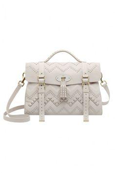 White studded Mulberry Handbag