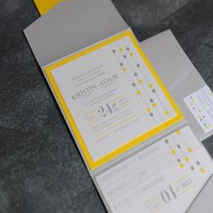 nice 9+ yellow and silver wedding invitations