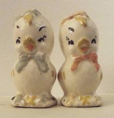 Vintage Rare Shawnee Baby Chicks Salt And Pepper Shakers.