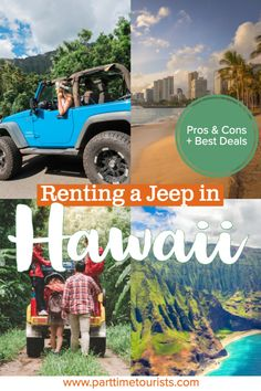 Renting a jeep in Hawaii. pros and cons to renting a jeep in hawaii. This article includes Hawaii jeep tours, Hawaii jeep pictures, Hawaii jeep rentals, and Hawaii jeep wrangler tips and tricks! Hawaii Vacation, Hawaii Travel, Thailand Travel, Vacation Trips, Hawaii Hawaii, Croatia Travel, Beach Travel, Bangkok Thailand, Italy Travel