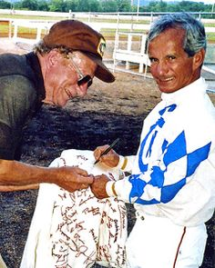 Willie  Shoemaker. the best jockey EVER. I grew up on a farm watching horse racing with my mother. I will always love this man.