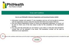 Get your Philhealth Number and Register Online