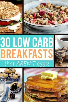30 Low Carb Breakfasts That Aren't Eggs! | Tasteaholics.com