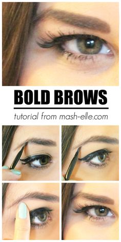 How to achieve BIGGER and BOLDER brows!