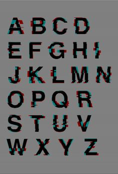 Behance; Glitched Helvetica by Mauro De Donatis