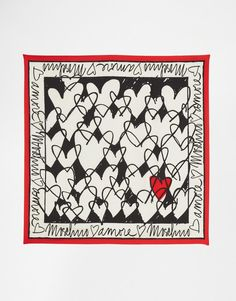 Image 3 of Moschino Silk Square Scarf In Doodle Print Hippie Art, Outfit Maker, Scarf Design, Girls Accessories, Fashion Accessories, Square Scarf, Silk Scarves, Scarf Styles, Fashion Prints