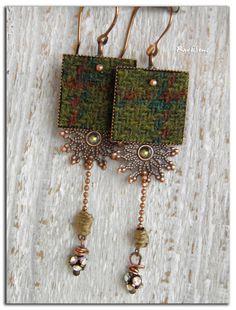 Bohemian earrings tribal My bohemian tweed tweed cap by rareetsens