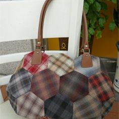 Hexagon patchwork handbag
