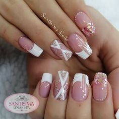 Manicure Nail Designs, Manicure And Pedicure, Acrylic Nail Tips, Acrylic Nail Designs, Party Nails, Nail Decorations, Stiletto Nails, French Nails, Nails Inspiration