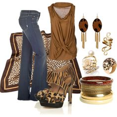 """""""A Touch of Leopard"""" by bethherrmann on Polyvore"""