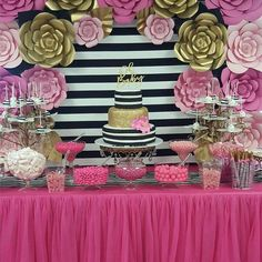 Birthday cake decorating ideas for mom bridal shower 25 New ideas Birthday Goals, 30 Birthday Cake, 10th Birthday Parties, Birthday Ideas, Birthday Cake Decorating, Birthday Party Decorations, Dessert Table Backdrop, Dessert Tables, Kate Spade Party