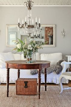 Can You Use Gray Paint in a North Facing Room? - laurel home | mirrors crystal and metallic finishes are wonderful in gray rooms. And greenery