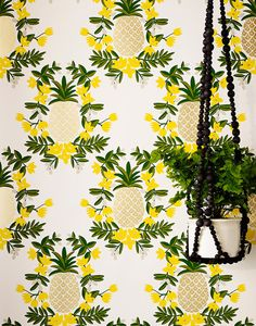 Pineapple (Yellow) Wallpaper – Hygge & West x Rifle Paper Co.