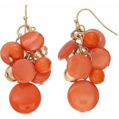 Peach Composite Shell Cluster Nickel Free Drop Earrings ($8.40) ❤ liked on Polyvore featuring jewelry, earrings, pink other, fish hook earrings, earring jewelry, sea shell jewelry, shell jewelry and cluster drop earrings