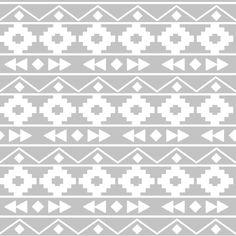 Grey tribal rows fabric by >>mintpeony<< on Spoonflower - custom fabric