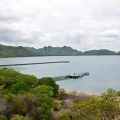 View from a hill at Komodo Island, East Nusa Tenggara Indonesia