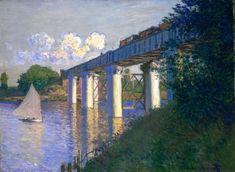 The Railway Bridge at Argentueil (1874) by Claude Monet