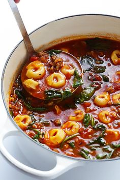Tortellini Soup. so simple, so awesome.