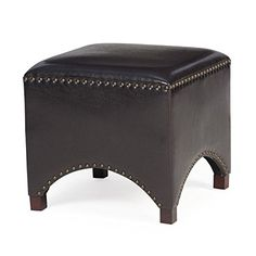 Belham Living Hutton Arched Cube Nailhead Ottoman More Info Could Be Found At The